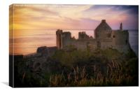 Dunluce Castle Sunset, Canvas Print