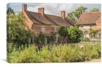 Flatford Mill Cottages, Canvas Print