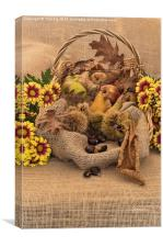 Autumn in a Basket, Canvas Print