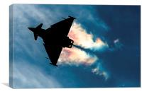Eurofighter Typhoon pulling Gs , Canvas Print