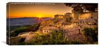 Volterra Sunset, Canvas Print
