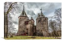 Castle Coch, Canvas Print