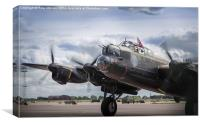 Mynarski Memorial Lancaster, Canvas Print