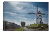 Windmill at Damme, Belgium, Canvas Print