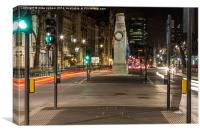 night time at the cenotaph, Canvas Print