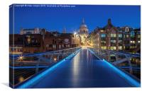 St Pauls cathedral blues, Canvas Print