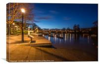 blue hour morning, Canvas Print