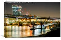 low tide on the south bank, Canvas Print