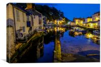 sleep time at Polperro harbour, Canvas Print