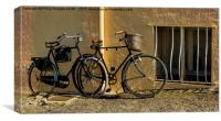 Bicycles in France , Canvas Print
