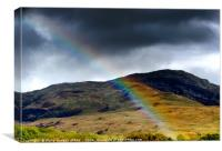 Rainbow in the Hills, Canvas Print