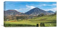 """Sunny day across the Lake District"", Canvas Print"
