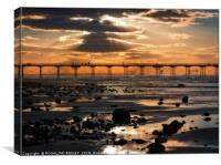 """""""Silver and Gold Saltburn"""", Canvas Print"""