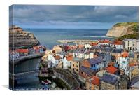 """Evening light on Staithes"", Canvas Print"