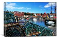 """Lobster pots at Whitby Harbour"", Canvas Print"