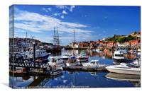 """Reflections at Whitby Marina"", Canvas Print"