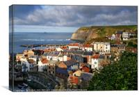 Evening Light at Staithes, Canvas Print