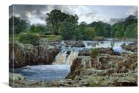 Storm brewing at Low Force waterfalls, Canvas Print