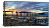 """""""The changing skies and reflections at Saltburn"""", Canvas Print"""