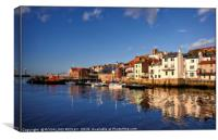 """Blue sky Reflections at Whitby"", Canvas Print"