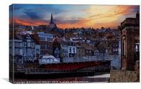 """""""Lighting up Whitby 3"""", Canvas Print"""