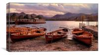"""Evening light on Derwentwater"", Canvas Print"