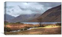 """Clouds lifting at Wastwater"", Canvas Print"