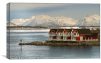 """Blue hour at Stokmarknes NorwaY"", Canvas Print"