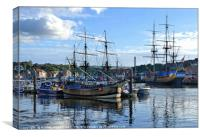 """""""Whitby ships"""", Canvas Print"""