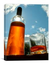 Whisky in the sun, Canvas Print