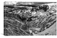 Just Forty Eight Hairpins to Go, Canvas Print