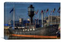 Spurn Lightship, Canvas Print