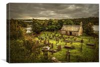 St Tysilio's Church, Anglesey, Canvas Print