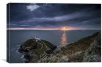 South Stack Sunset, Canvas Print