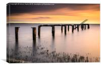 Snettisham Jetty Long exposure 127sec, Canvas Print