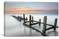 Sunrise Long Exposure at Overstrand, Canvas Print