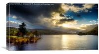Sunset at Loch Tay, Canvas Print