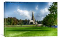 Snettisham Church, Canvas Print