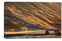 Isolated Farmstead (Glen Etive), Canvas Print
