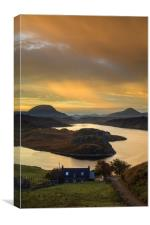 Loch Inchard View, Canvas Print