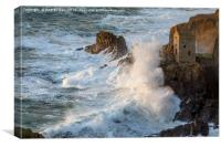 Stormy evening at Botallack, Canvas Print