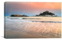 Snowy Evening (St Michael's Mount), Canvas Print