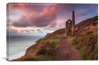 Sunset at Wheal Coates, Canvas Print