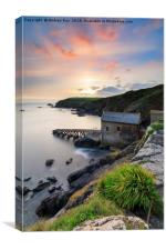Sunset over the old lifeboat station (Lizard), Canvas Print
