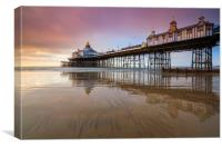 Reflections at sunrise (Eastbourne Pier), Canvas Print