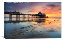 Sunrise at Eastbourne Beach, Canvas Print