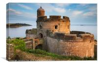 Evening light on St Mawes Castle, Canvas Print