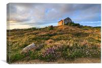 Tywarnhayle crib hut, Canvas Print