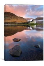 Reflections at sunrise (Kilchurn Castle), Canvas Print