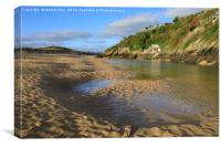 Sand patterns on the Gannel Estuary, Canvas Print
